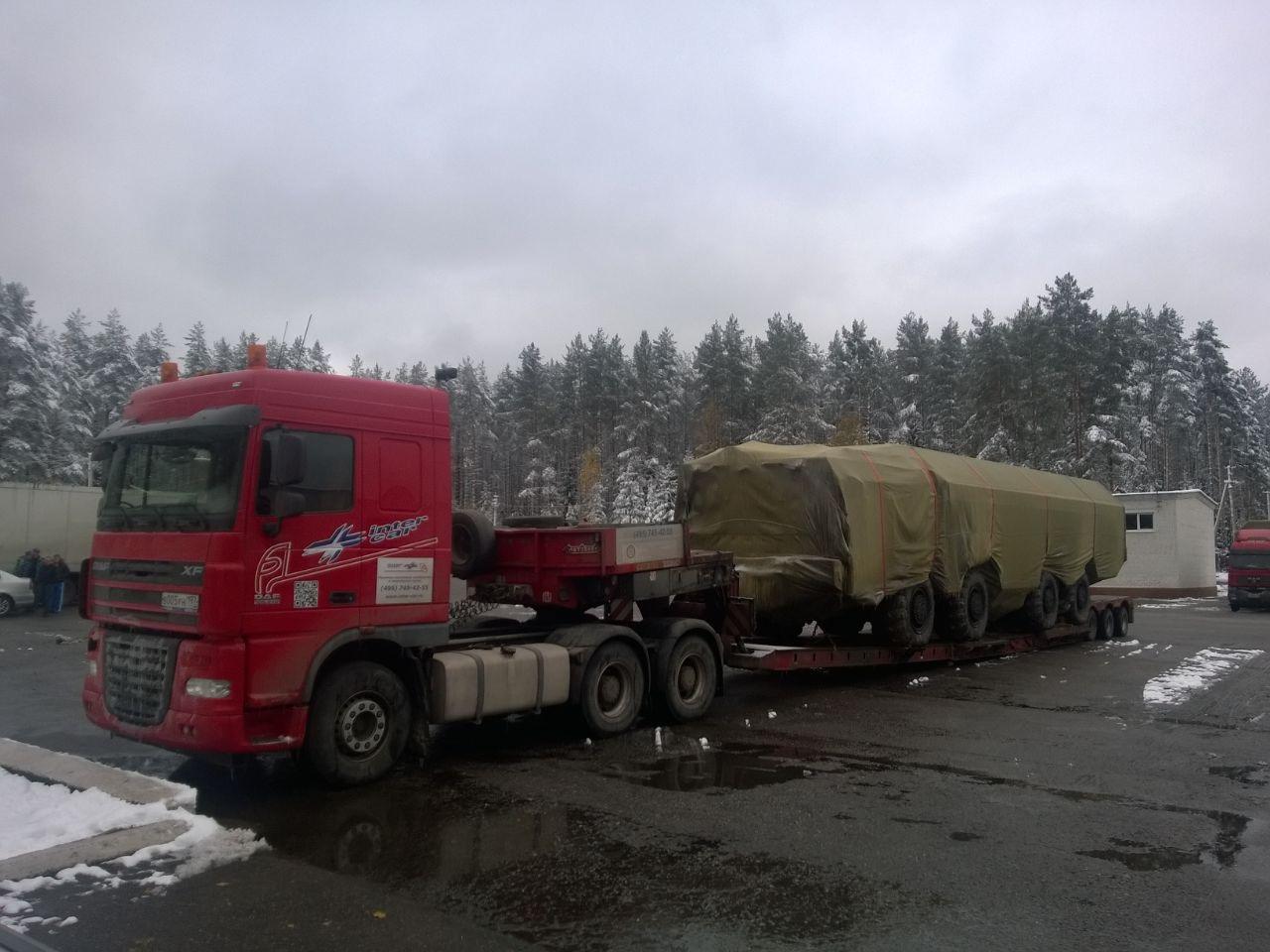 Перевозка военной техники автотранспортом
